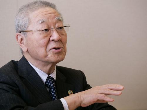 経団連会長(日立製作所取締役会長 執行役)の中西宏明氏