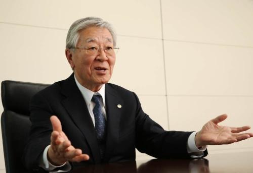 日立製作所の中西宏明会長。2018年5月末に経団連会長に就任予定