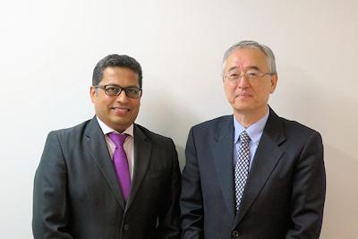 米Vonageのラオ氏(左)とVonage Japanの楠本氏