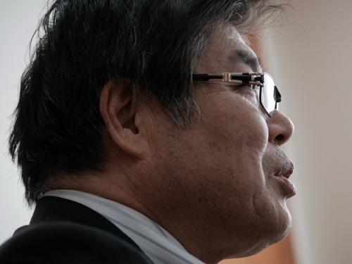 ひとみ・みつお。1954年生まれ。岡山県出身。1979年東大院修了後、東洋工業(現マツダ)に入社。一貫してエンジン開発に携わり、2000年パワートレイン先行開発部長。2011年執行役員、2014年常務執行役員。2017年から現職。(写真:加藤 康)