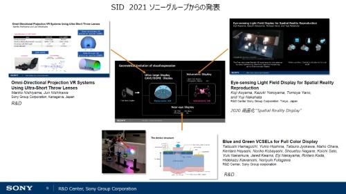 ソニーグループは「SID Display Week 2021」で3件を発表した