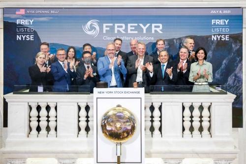 図1 ニューヨーク証券取引所に上場したFREYR Battery