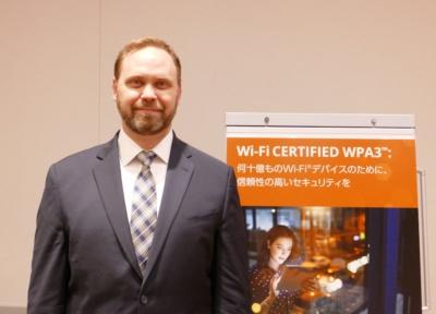 Wi-Fi Alliance マーケティング担当バイスプレジデントのケビン・ロビンソン氏