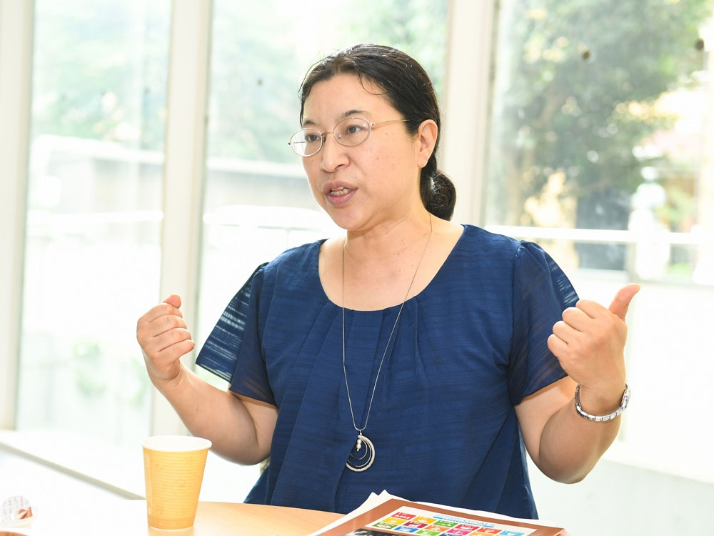 バイオマス産業社会ネットワーク・泊みゆき理事長 (撮影:TFK)