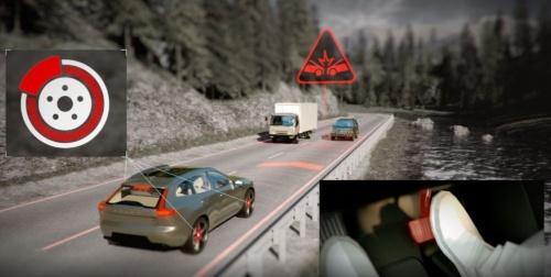 V60に搭載した「City Safety-対向車対応機能」