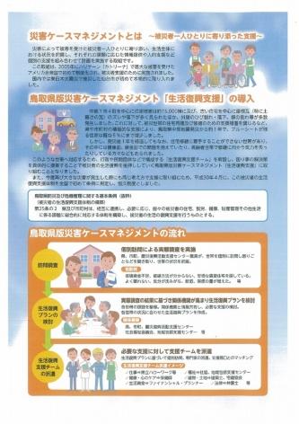 鳥取県版災害ケースマネジメントの概要(資料:鳥取県)
