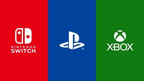 任天堂とSIE、Microsoftそれぞれのゲーム機のロゴ
