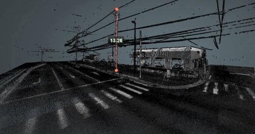 日本インシークが香芝市の同意を得て公開した「香芝RID」。ウェブブラウザー上で道路の点群データを直接操作できる(資料:日本インシーク)