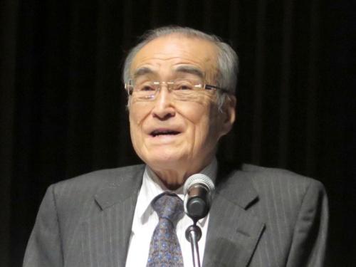 明治大学知的財産法政策研究所が2019年3月17日に開催したダウンロード違法化関連のシンポジウムで講演する、東京大学の中山信弘名誉教授