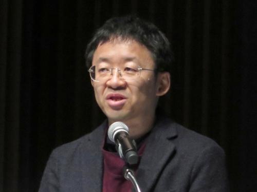 同シンポジウムで講演する、北海道大学大学院の田村善之教授