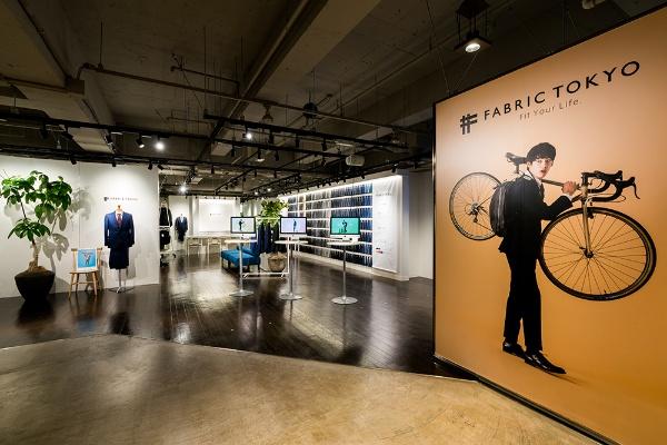 FABRIC TOKYOの店舗は、これまでのテーラーの常識を覆す概念で設計されている