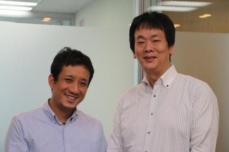 SMFLキャピタルの川名洋平執行役員オペレーション本部長(右)と、藤原雄情報テクノロジ本部デジタルリーダー