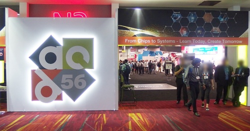 Las Vegas Convention Centerで開催のDAC 2019(56th DAC)。写真は展示会場の出入り口。日経 xTECHが撮影