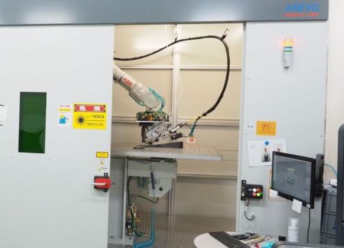 「AGC横浜テクニカルセンター」に設置された米AREVOの3Dプリンター「AQUA」