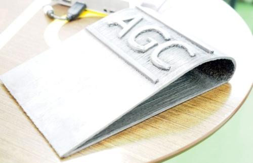 AGCがAQUAで造形した試作品