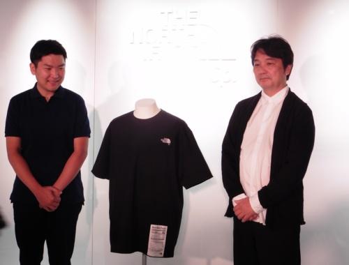 会見では、タンパク質繊維「ブリュード・プロテイン」を利用したTシャツ「プラネタリー・エクイリブリアム ティー」を250着の限定で発売することが発表された。