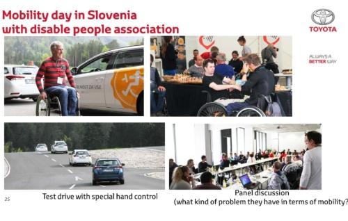 スロベニアで開催された、障がい者のモビリティーに関するイベントの様子