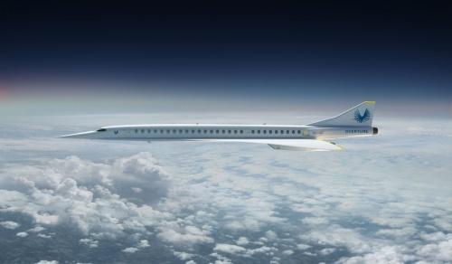 米スタートアップのブームが2024年の初飛行を目指す超音速機「OVERTURE」のイメージ写真。(写真:ブーム)