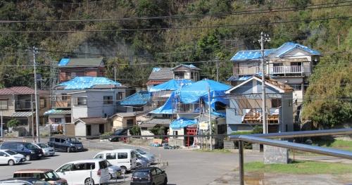 2019年9月9日に千葉市付近に上陸し、関東地方を通過した台風15号で住宅被害の大きかった千葉県鋸南町岩井袋地区(写真:日経 xTECH)