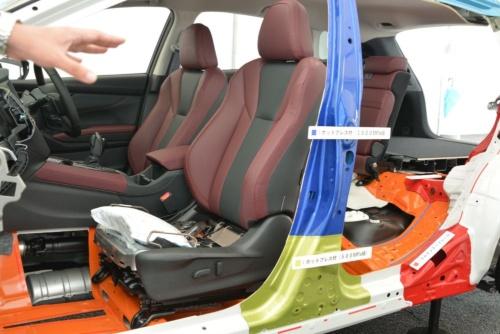 図2 レヴォーグの助手席のシート・クッション・エアバッグ