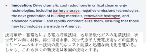 図1 バイデン次期米国大統領も蓄電池とグリーン水素の拡大を公約に