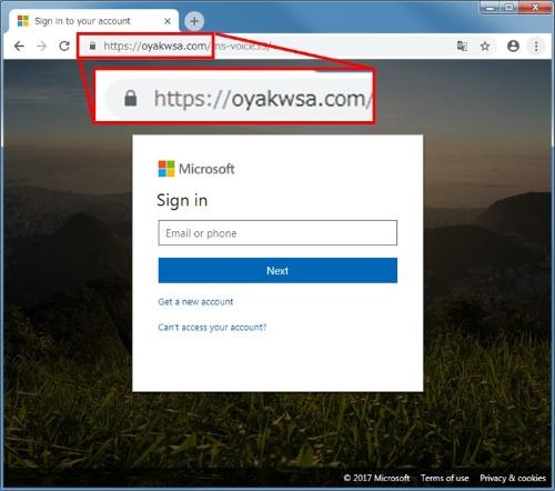 TLSに対応したフィッシングサイトの例(2)