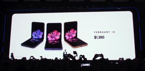 折り畳みスマホの新型「Galaxy Z Flip」を発表