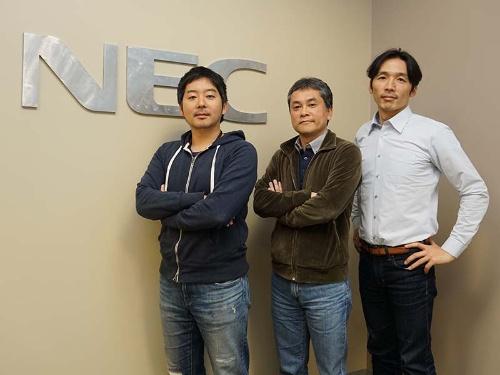 NEC Xのメンバー。左から菊地良太氏、末村剛彦氏、金子亮氏