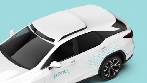 ポニーがルミナーと開発中のロボタクシー向け量産車のイメージ