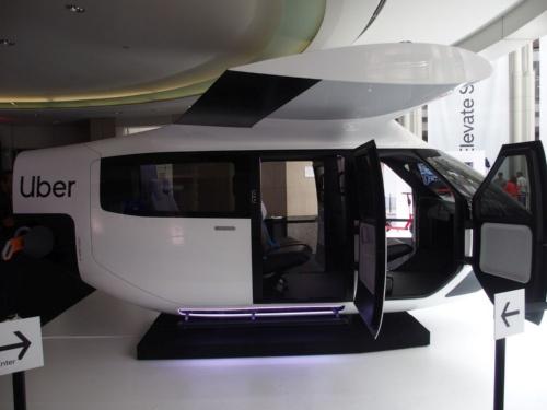 Safran Cabinと共同開発したキャビンの実物大モックアップ。実際に座って乗り心地を確かめられた