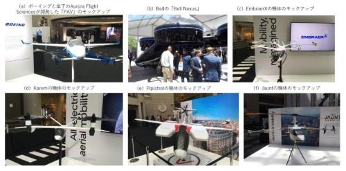 ウーバーは基本的に、eVTOL機の開発・製造をパートナー企業に任せる。これまでのパートナー企業は、Boeing傘下のAurora Flight SciencesとBell Helicopter 、Embraer、Pipistrel、Karem Aircraftの5社だった(a~e)。今回、6社目としてJaunt Air Mobilityが新たに加わることが明らかになった(f)。