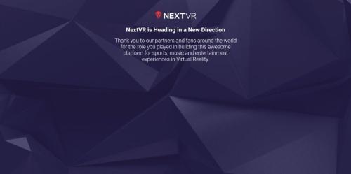 NextVRのWebサイトのトップページをキャプチャーしたもの