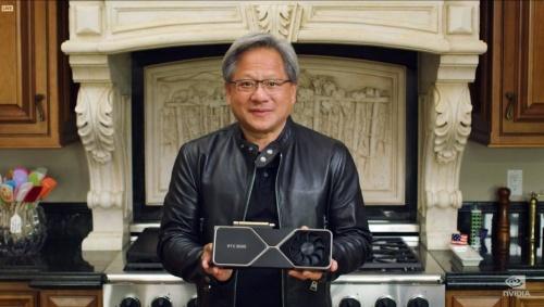 2020年9月のオンラインイベントで自社製品をアピールするNVIDIAのHuang氏