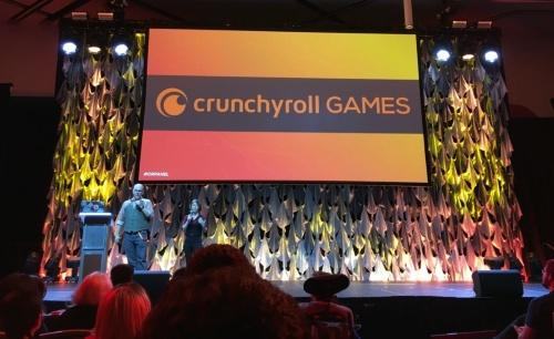 クランチロールはゲームのプロモーションやマーケティングの事業も手掛ける。クランチロールの無料会員数は5000万人、有料会員数は200万人に達した。2019年8月30日~9月1日に開催された「Crunchyroll Expo 2019」での発表イベントの様子(撮影:日経 xTECH)