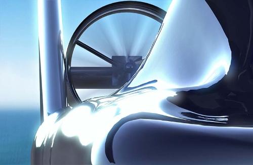 NFTが開発する空飛ぶ車のイメージ