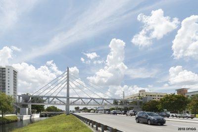 歩道橋の完成予想図(出所:フロリダ国際大学)