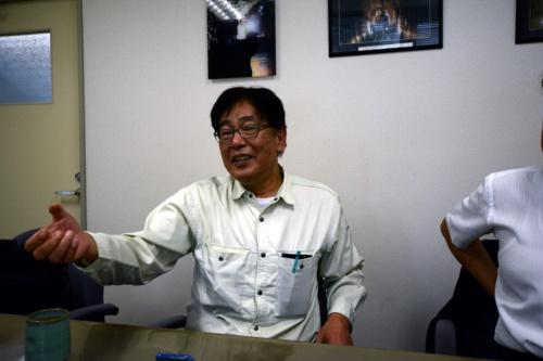 寿建設の岡口幸一工事支援部長(写真:日経コンストラクション)