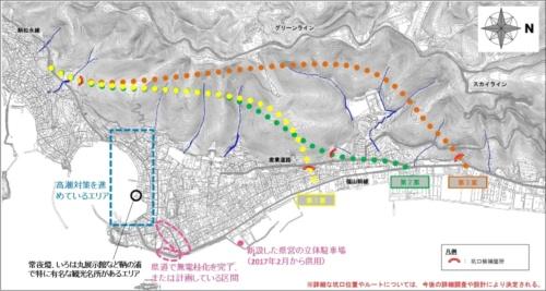 ■鞆の浦のトンネルを中心とするバイパスルート案