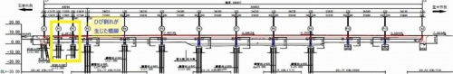 豊里大橋の側面図