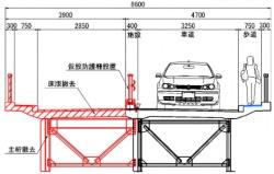 豊里大橋の断面図