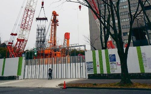 名古屋市内の「名城非常口」の現場。2018年2月撮影(写真:日経コンストラクション)