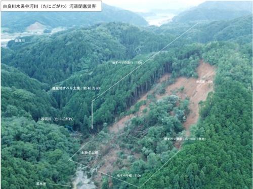 谷河川で発生した天然ダムの概要(資料:日本工営)
