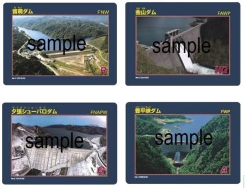 国土交通省北海道開発局が配布している「ダムカード」(資料:国土交通省北海道開発局)