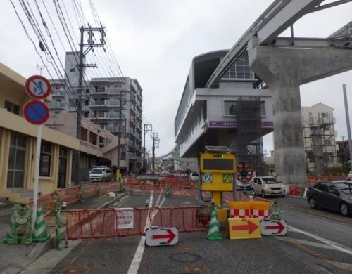沖縄県が契約を解除した時点の工事現場の様子。2018年12月に撮影(写真:沖縄県)