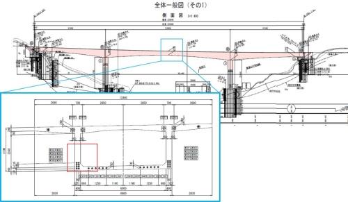 橋梁中央部の主桁ウエブ部を対象にシミュレーションを実施した。コンクリートの部材厚が最も薄く、鉄筋やPCケーブルを通す管が集中しており、コンクリートの充填が難しい(資料:清水建設)