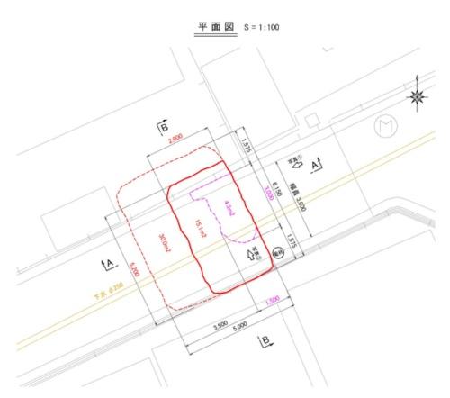陥没箇所の平面図(資料:東日本高速道路会社)
