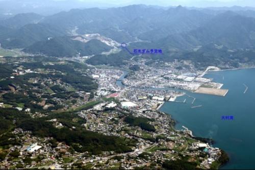 石木ダム建設予定地付近(写真:長崎県)