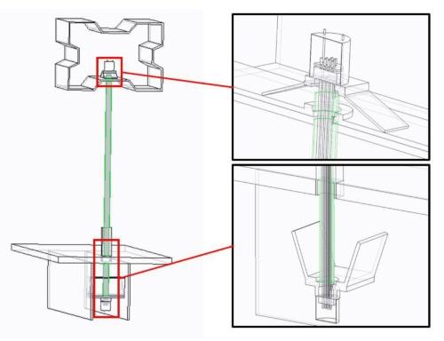 アーチリブ側と桁側の定着構造(資料:台湾国家運輸安全調査委員会)