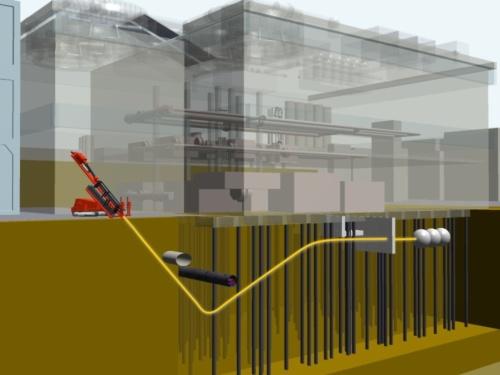 「ナビックス工法」のイメージ。硬い地盤や急曲線など、多様な施工条件に対応する(写真:鹿島)