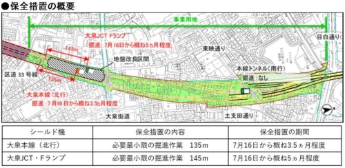 2台のシールド機が地盤改良区間で停止していた(資料:東京外環プロジェクト)